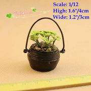 1/12 Dollhouse Miniatures hanging basket Potted Plant for Doll House